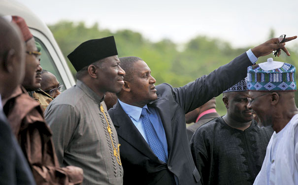 Dangote was also a favorite with the previous Goverment.