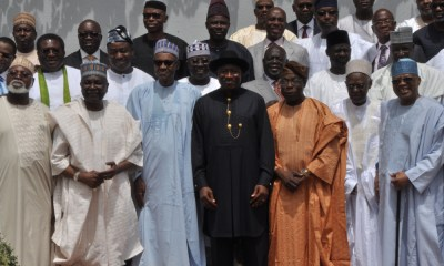 Buhari in crucial meeting with Obasanjo, other former heads of state