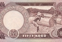 Old 50 kobo note