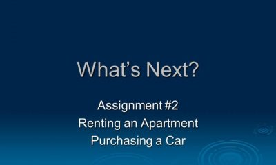 buy a car or rent an apartment