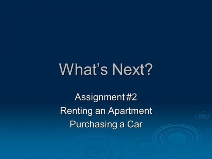 buy a car or rent an apartment