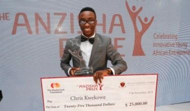 22 Year Old Nigerian Entrepreneur Wins Anzisha 2015 Prize