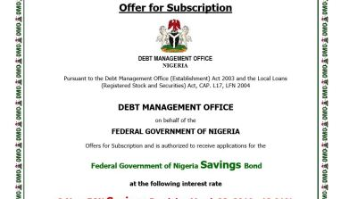 It's Here: Details of The FGN Savings Bond That Will Be Sold This Week