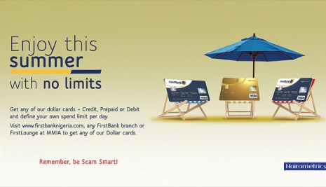 Enjoy your summer with First Bank dollar denominated cards