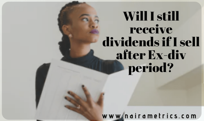 Dividends after ex-div