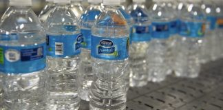 Nestle Pure life bottled water.