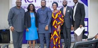 L-R: Adedeji Adebisi (Deputy Director, Development Finance, Central Bank of Nigeria), Yemi Adesanya (Co-Founder, TACT), Amechi Akwari (SME Funds Department, Bank of Industry), Nneka Okekearu (Deputy Director, Enterprise Development Centre), Charles Anyanwu (Head, SME, Lagos State Employment Trust Fund), Yemi Ajala (Journalist, Writer, Conference Compere)