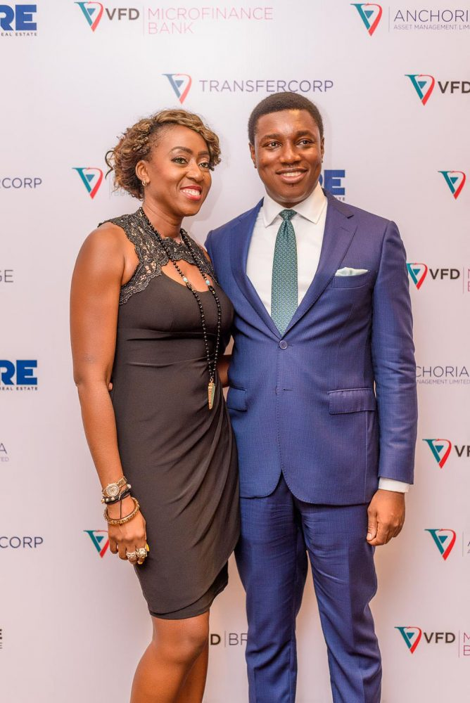 L-R; Jewel Okwechime, Independent Non-Executive Director; and Nonso Okpala, GMD/CEO, VFD Group.