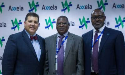 "(L-R) Walter Perez, Managing Director, West African Gas Pipeline Company (WAPCo); Debo-K'mba Barandao, Director-General, West African Gas Pipeline Authority (WAGPA); and Bolaji Osunsanya, Chief Executive Officer, Axxela, during the recent signing of a gas transportation agreement between Axxela and WAPCo at the WAPCo Head Office in Accra, Ghana to transport over 15 million standard cubic feet per day (""mmscf/d"") of natural gas via the West African Gas Pipeline (WAGP) to Lome, Togo."