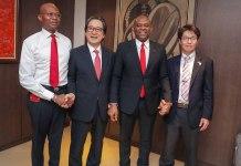 UBA and Japan External Trade Organisation officials