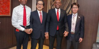 UBA and Japan External Trade Organisation officials