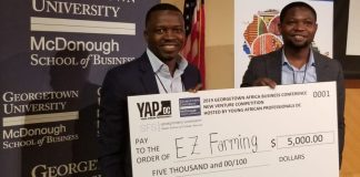 EZ-Farming wins Georgetown African Business venture prize, Agritech Startup, Agric business