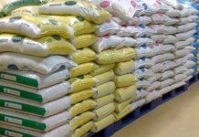Food Items, Prices of imported rice