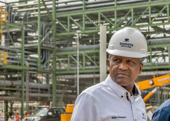 Aliko Dangote is the only African among the world's 100 richest people