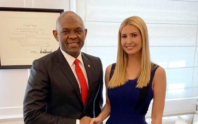 Tony Elumelu and Ivanka Trump