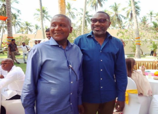 billionaires, holiday, Otedola extols Dangote's multi-billion dollars refinery project