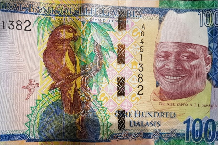 The Gambia removes Yahya Jammeh's image from bank notes, The Gambia President Adama Barrow, The Gambia election, The Gambia old currency