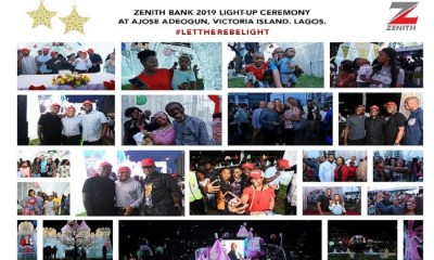 Zenith Bank heralds yuletide season with Light-Up of Ajose Adeogun Street, Victoria Island, Lagos