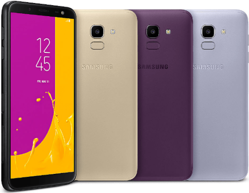 Samsung Galaxy J6 colour