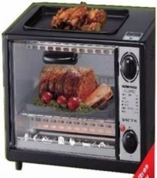 electric oven with grill top