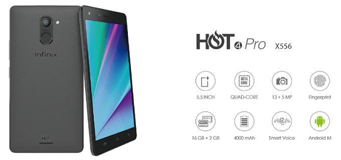 Infinix Hot 4 Pro Specs