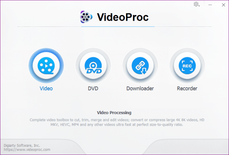 videoproc video processing