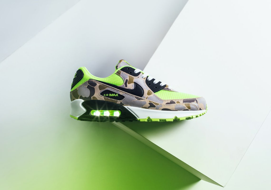 "The Nike Air Max 90 ""Green Duck Camo"" Releases Tomorrow 15th May 2020"