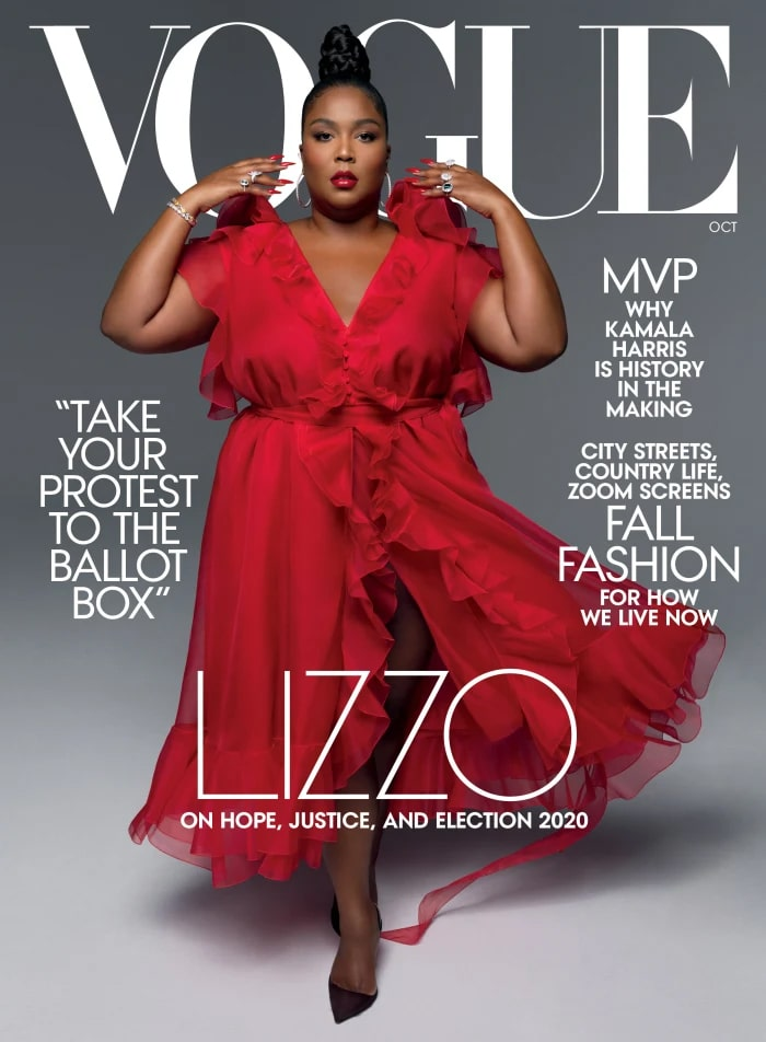 Lizzo On The Cover Of 'vogue' Magazine October Issue