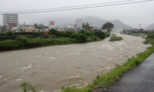 【速報 】広島市で根谷川が氾濫!!