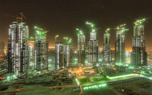 The Business Bay Executive Towers in Dubai.
