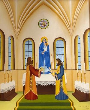István király felajánlja a koronát Máriának (2001)