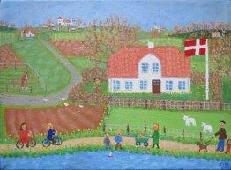 Landskab med marts og høns der er sluppet ud, Værket er nr 41 i Tidernes Landskab og har løbenummer 3.05.