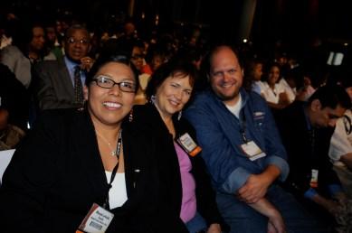 Former NAJA president Rhonda LeValdo with Shirley Sneve and Dan Lewerenz.