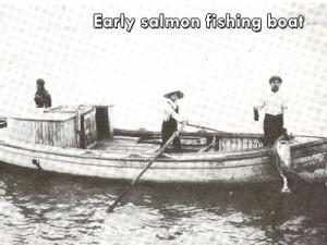 Early salmon fishing boat