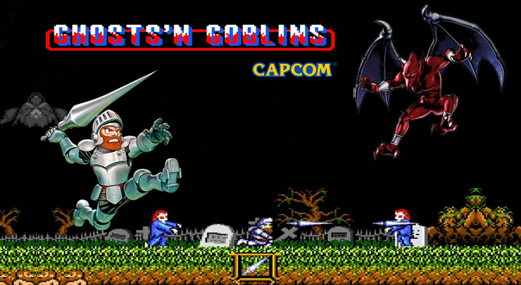 Ghost And Goblins (o la de los zombies) - Capcom 1985
