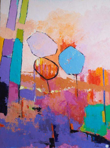 Acrylique+médium sur toile lin.8154