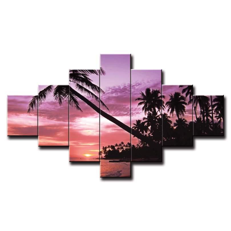7 dielny obraz na stenu pláž s palmou