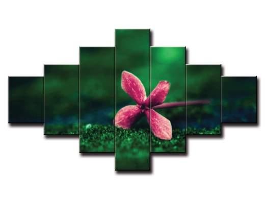 7 dielny obraz na stenu osamotený kvet