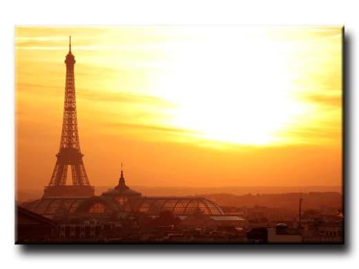 Obraz na stenu Eiffelova veža pri západe slnka