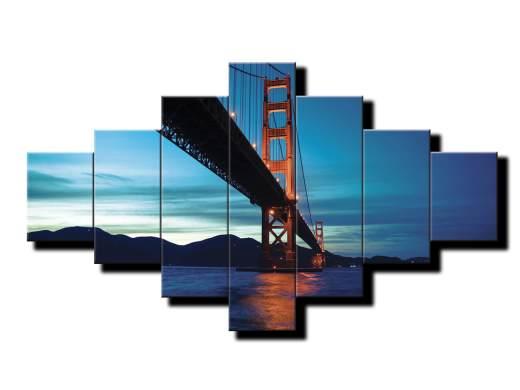 7 dielny obraz na stenu most Golden Gate