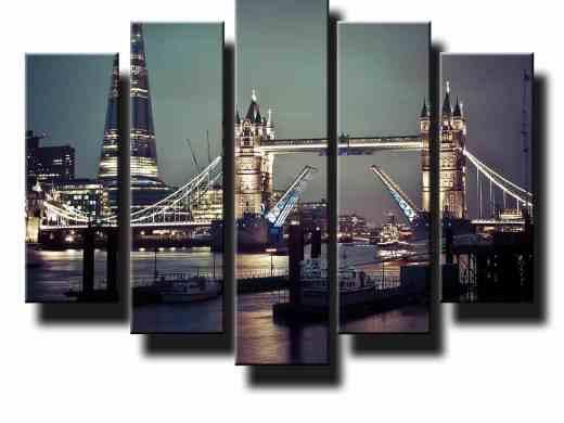 5 dielny obraz na stenu Tower Bridge Londýn