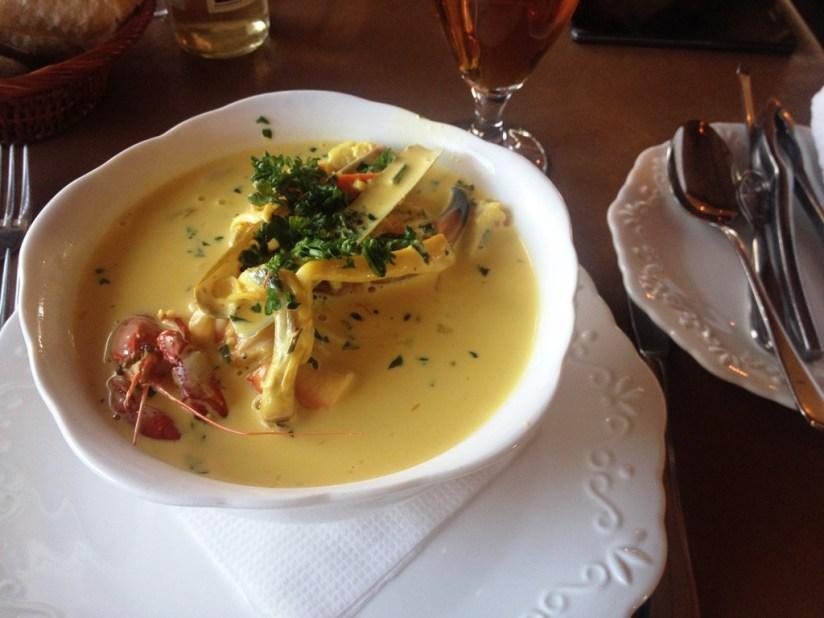 Restauracja Arken, Køge- zupa rybna z szafranem