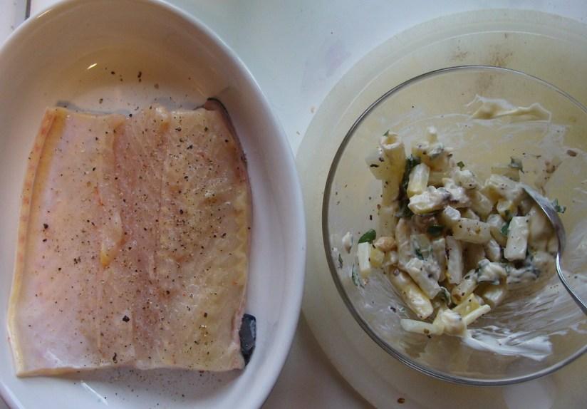 Ryba ze szparagami i boczkiem - przygotowanie