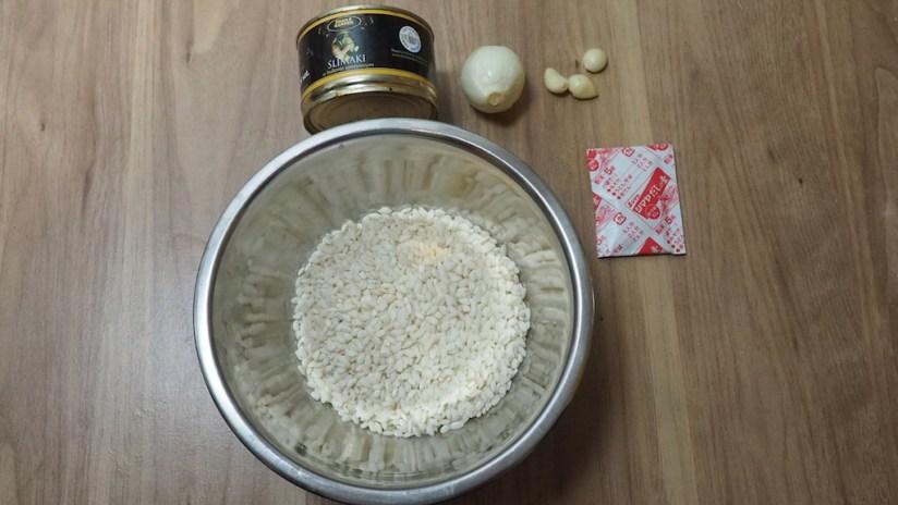 Risotto ze ślimakami - główne składniki