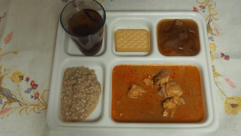 Racja armii malezyjskiej 24h Menu D - curry z kurczaka, deser ryżowy, ananas w syropie