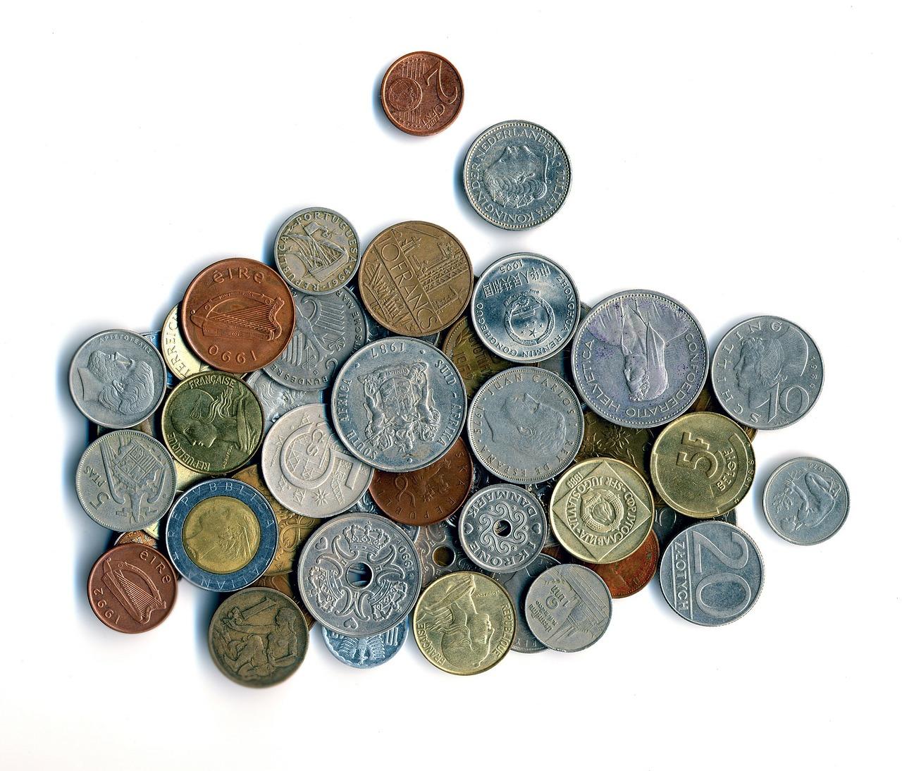 小銭いっぱい