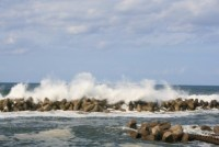 日本海の荒海
