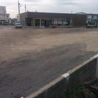 加東市コンビニ駐車場舗装工事1日目