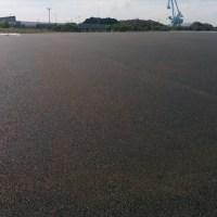 姫路市飾磨区中島埠頭舗装工事完成