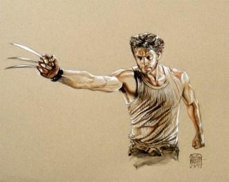 Wolverine - Gouache, 29,7cm x 42cm.